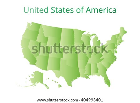 Map of USA. Image with clipping path. Vector illustration.