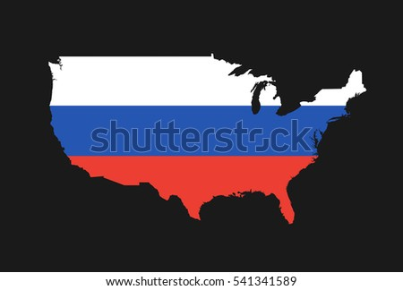 Map Of Usa In Colors Of Russia As Metaphor Of Russian Sphere Of Interest Political