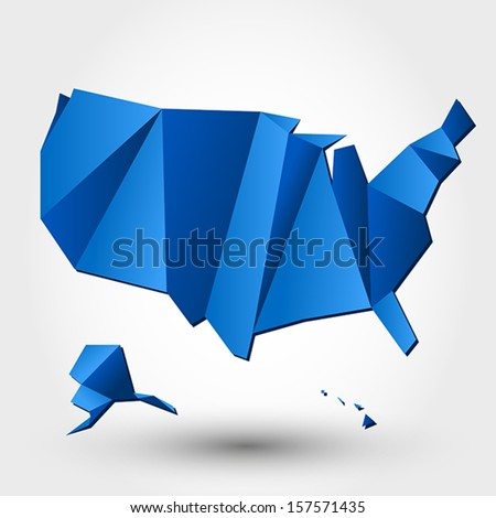 map of usa. map concept - stock vector