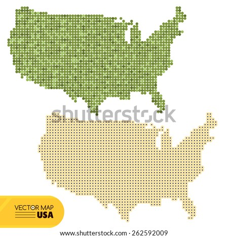 Map of USA vector illustration - stock vector