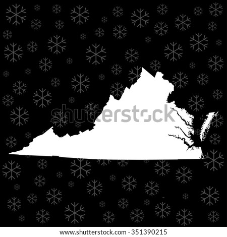 map of Virginia - stock vector