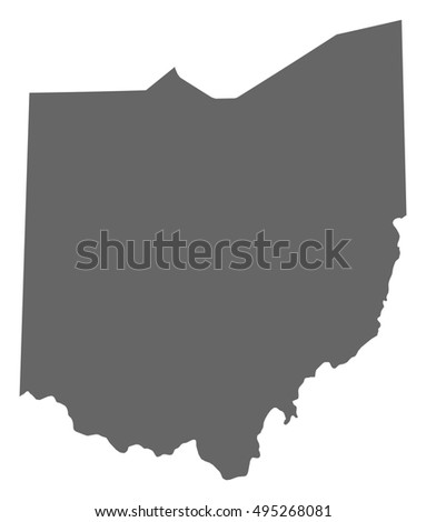 Map Us State Ohio Stock Vector Shutterstock - Us map ohio