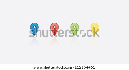 map pin icon - stock vector