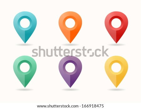 Map pin icon - stock vector