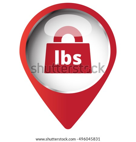 Map Pin Symbol Weight Pounds Icon Stock Vector 496045831 Shutterstock