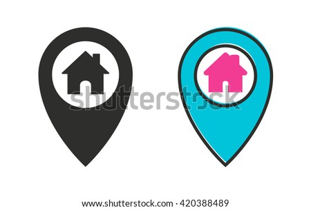 Map pin    vector icon. Illustration isolated for graphic and web design.