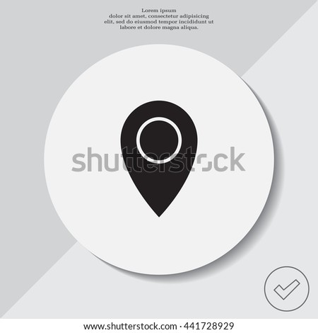 Map pointer flat icon, vector illustration. Flat design style