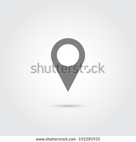 Map pointer flat single icon - Vector - stock vector