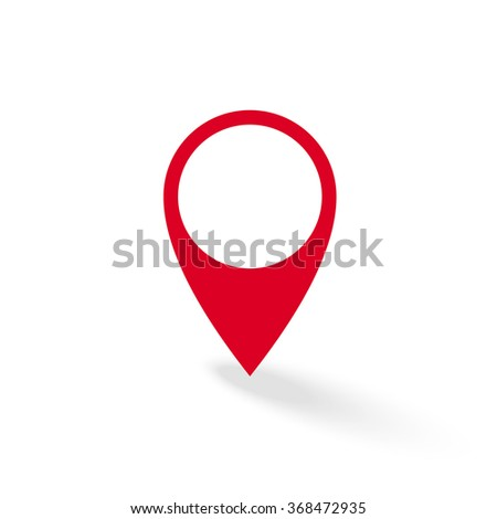 Map pointer icon. GPS location symbol. Vector illustration web design element - stock vector