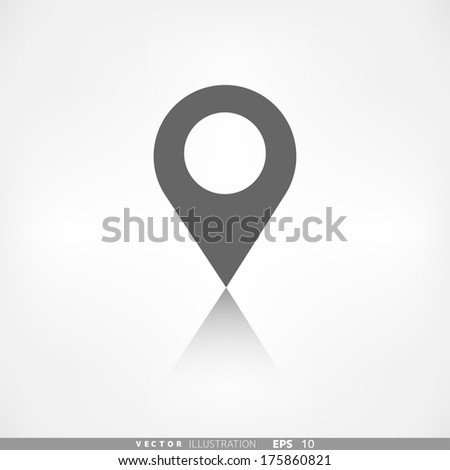 Map pointer icon. Location symbol. - stock vector