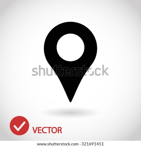 map pointer icon. One of set web icons - stock vector