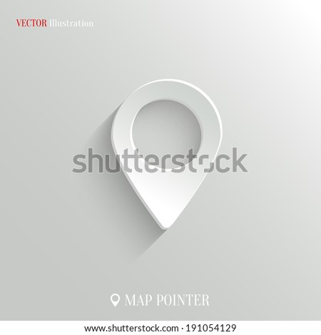 Map pointer icon - vector web illustration, easy paste to any background - stock vector