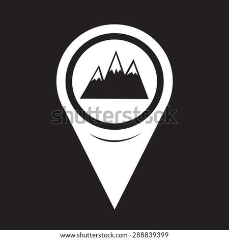 Map Pointer Mountains Icon - stock vector