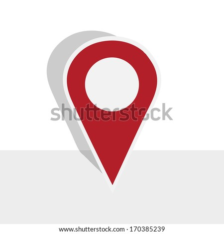 map pointer on white background - stock vector