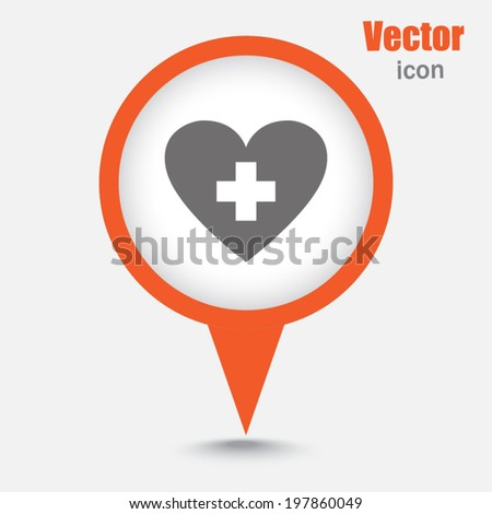 Map pointer sign icon  - stock vector