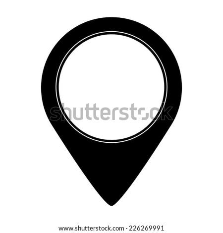 Map pointer vector icon - stock vector