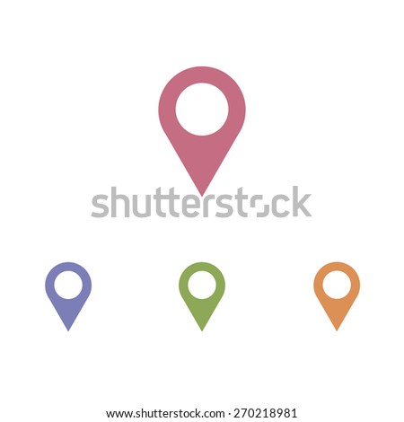 Map pointer - vector icon - stock vector