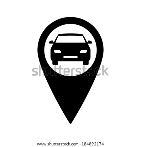 Map Pointer Car Icon Stock Vector (Royalty Free) 184892174 ... on windows car icon, microsoft car icon, google earth funny coordinates, google map custom pushpin, red and blue squares icon, google map navigation icons, google earth street view funny, google map pin icon, google map car blue, position map icon, bing maps car icon,