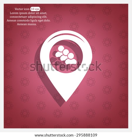 map pointer with man icon. vector illustration. - stock vector