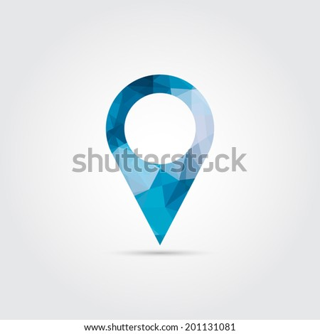 Map pointers icon - Vector - stock vector
