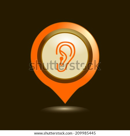 Map pointers with  icons. Vector illustration.  - stock vector