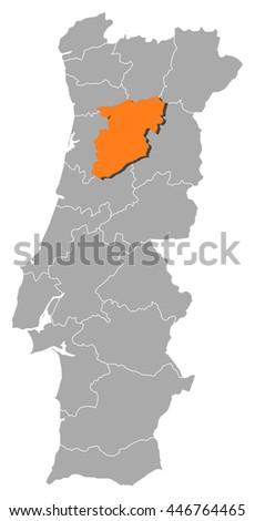 Viseu Stock Vectors Vector Clip Art Shutterstock - Portugal map viseu