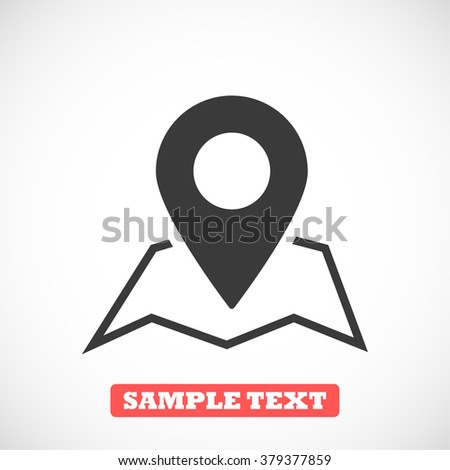 Map Search icon - stock vector
