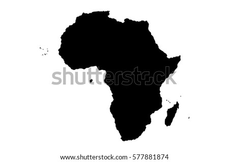 Map silhouette africa stock vector 577881874 shutterstock gumiabroncs Choice Image