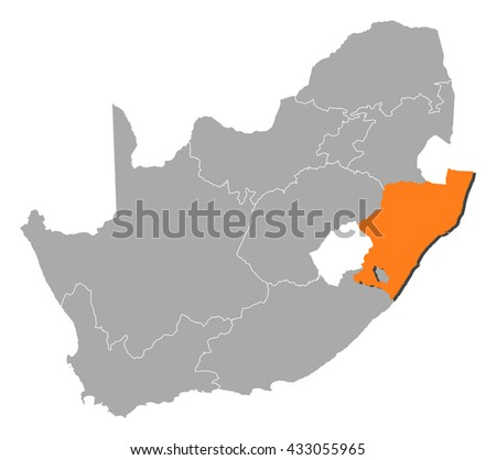 Map - South Africa, KwaZulu-Natal