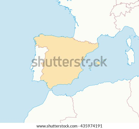 Map - Spain - stock vector