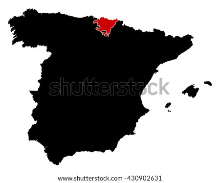 Map - Spain, Basque Country