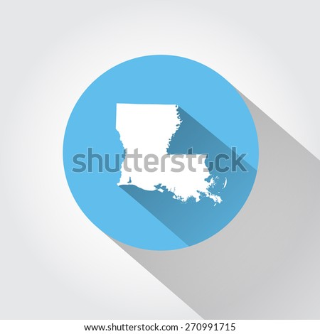 Map state of Louisiana - stock vector