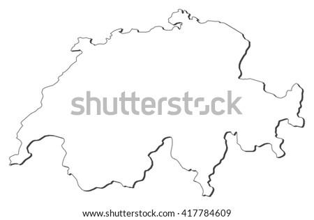Map - Swizerland - stock vector