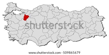 Map Turkey Diyarbakir Stock Vector 509862352 Shutterstock