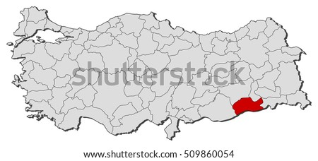 Map Turkey Mardin Stock Vector 509860054 Shutterstock