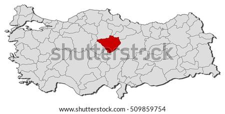 Map Turkey Yozgat Stock Photo Photo Vector Illustration