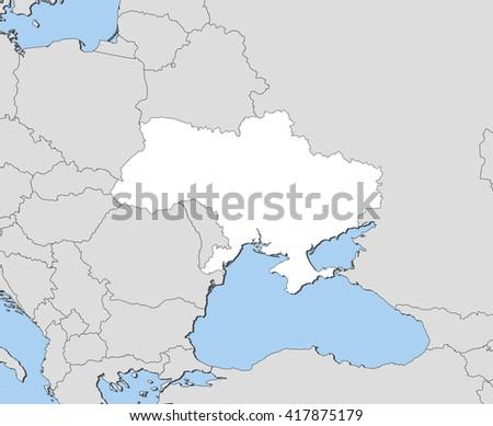 Map - Ukraine - stock vector