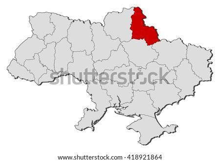 Map Ukraine Sumy Stock Vector 418921864 Shutterstock