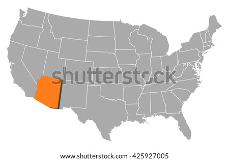 Map - United States, Arizona