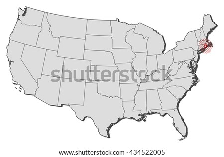 Map United States Rhode Island