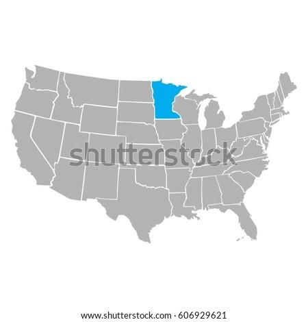Map Usa Border Vector