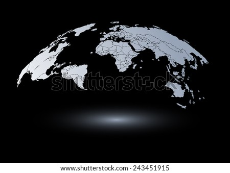 Map vector drawing lines for background and text - stock vector