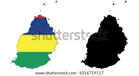 Map Flag Inside Black Outline Map Stock Vector 1016719117 - Shutterstock
