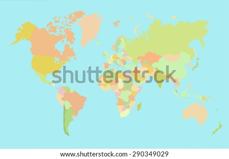 map world vector - stock vector