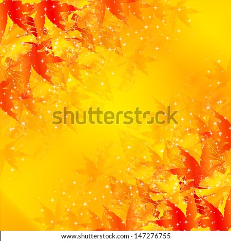 Maple autumn leaves background - stock vector