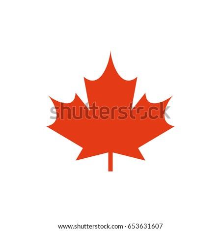 maple leaf vector icon symbol canada stock vector 653631607