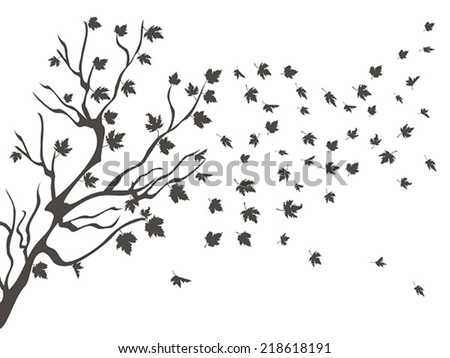 maples falling background - stock vector