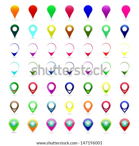 mapping pin icon - stock vector