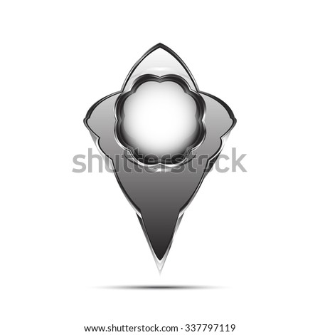 Mapping places - stock vector