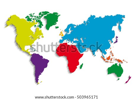 maps of the Earth's. world map . Vector illustration
